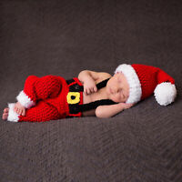 Baby Photography Props Crochet Costume Knit Outfit Newborn Girl Boy Christmas