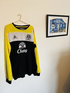 Everton 2011 Goalkeeper Football Shirt Size Adults X Large Authentic Rare Top