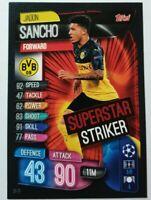 Match Attax Champions League Extra 19/20 Superstar Striker Sancho Topps Panini