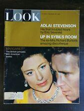 Look Magazine November 30, 1965 Princess Margaret - Adlai Stevenson - Picasso C1