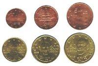 Greece 2002 - Maxi Set of 6 Euro Coins (UNC)