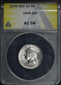 1949 Washington Quarter ANACS AU-58