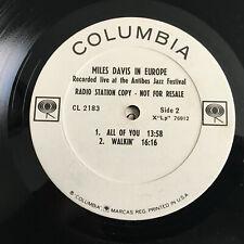MILES DAVIS  In Europe promo 1964' MONO jazz LP Vinyl Record LIVE ANTIBES