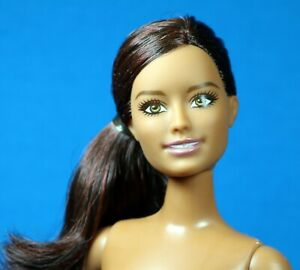 Barbie Pony Tail Hair Flat Feet National Geographic Doll CURVY nude for OOAK