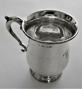 Antique sterling silver baluster cup/mug c 1913 Birmingham United Kingdom.