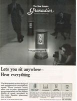 1964 Empire Grenadier Hi-Fi Speakers Vtg Print Ad