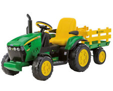 John Deere Kids 12v Electric Ride-On Ground Force Tractor & Trailer Xmas