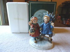"Vintage Avon Christmas Memories Series 1981 Porcelain Figure "" NIB "" BEAUTIFUL"