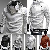 Men's Hoodie Slim Coat Zip Pullover Jumper Tops Hooded Sweater Jacket Outwear