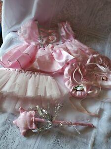 The Bear Factory Ballerina Dress / Slippers/ Tutu/ Wand ☆ Preowned