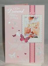 On Your Diamond Wedding Anniversary - Embossed Wedding Anniversary Card