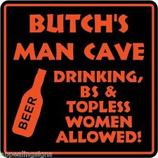 Personalized MAN CAVE Sign Bar Beer Den Garage Funny #1 Custom USA Made