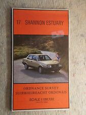OS Ireland map 17 Shannon Estuary. Half inch to 1 mile 1986