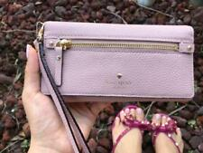 Kate Spade Cobble Hill Rae Pebble Leather Wristlet Wallet Bi Fold Pink $148
