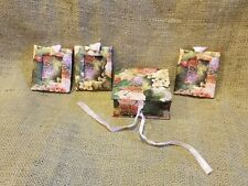 "3- 2.5"" X 3"" Floral/Butterflies Mini Frames in Matching Cardboard Gift  Box EUC"