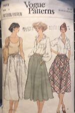 Vintage Vogue Pattern 7072 Misses' Bias Skirt size waist 25