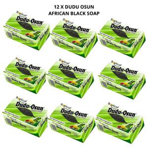 12 X DUDU OSUN AFRICAN BLACK SOAP FOR ECZEMA, ACNE, FUNGUS - 150G