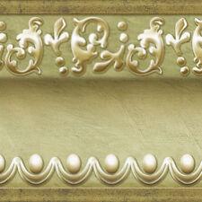 Gold Green Wallpaper Border Scroll Molding Moulding Home Depot Interior Ideas