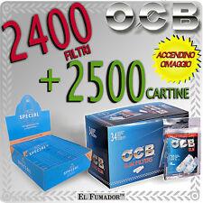 2500 Cartine GIZEH SPECIAL CORTE ORIGINAL Extra Fine + 2400 Filtri OCB SLIM 6mm