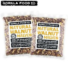 Gorilla Food Co. Raw Walnut Halves- 2lb (Twin Pack) Free Priority Shipping :)