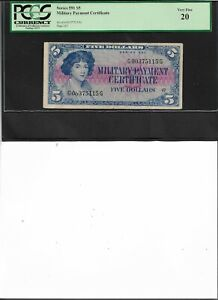 Military Payment Certificate Series 591 $5 Very Fine 20
