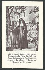 Estampa antigua de la Hermana Paula andachtsbild santino holy card santini