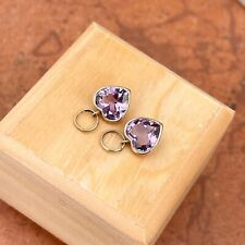 Heart Gemstones Add Hoop Earring Charms New listing