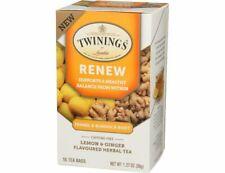 Twinings Renew Fennel & Burdock-Lemon & Ginger Herbal Tea EXP 11/21