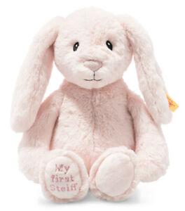My First Steiff Hoppie Rabbit - plush cuddly babysafe bunny soft toy - 242359