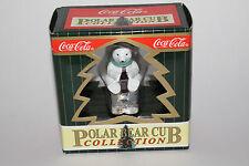 COCA COLA CHRISTMAS ORNAMENT, POLAR BEAR CUB COLLECTION DRINKING COCA COLA ICE
