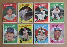 1959 TOPPS BASEBALL CARD SINGLES #301-557 COMPLETE YOUR SET PICK CHOOSE