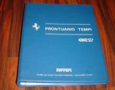 Ferrari BB512  org. Werkstatt-Ordner  Prontuario Tempi   1980   BB 512