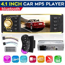 4.1'' 1 DIN HD Car MP5 Player Stereo Audio bluetooth AUX FM Radio Rear View
