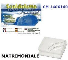 COPERTA TERMICA X LETTO MATRIMONIALE TERMOCOPERTA SCALDALETTO CM 140X160