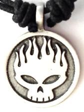 DEATH HEAD SKULL BIKER GOTHIC METAL ROCK PENDANT  MENS BOYS NECKLACE   P0571