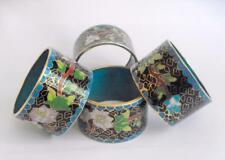 Vintage kitchenalia oriental matched cloisonne napkin or serviette rings 11330