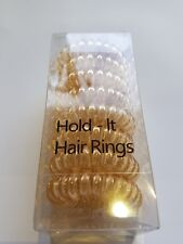Hold It Hair Rings Blonde Spiral Stretchy Bobbles Hair Bands 8pk x 3.5cm. Boxed