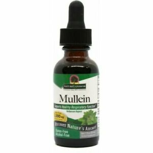 Nature's Answer Mullein Leaf 2000mg Herbal Liquid Extract 30ml Verbascum Thapsus
