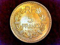5 FRANCS 1946 Lavrillier (Mangnifique) bronze-aluminium F.337/7 - SPL++/prFDC