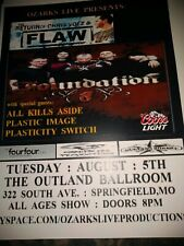 Foundation Chris Volz of Flaw * Rare Concert Flyer Mini Poster *