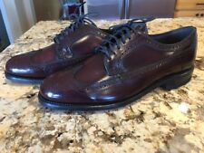New Hanover Vintage Wingtip Oxford Men's Dress Shoes 9.5 EEE/E Burgundy
