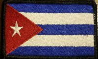 CUBA Flag Patch W/ VELCRO® Brand Fastener Tactical Morale CUBAN Version #14