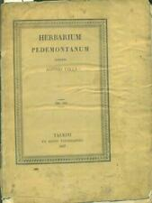 HERBARIUM PEDEMONTANUM PRIMA EDIZIONE COLLA ALOYSIO