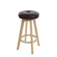 Tabouret bar Navan, bois similicuir, rotatif ~ bordeaux,  pieds clairs