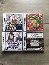 LOT 4 JEUX 100 LIVRES CLASSIQUES JOURNAL JULIE GOGOS NINTENDO DS 3DS NEUF NEW