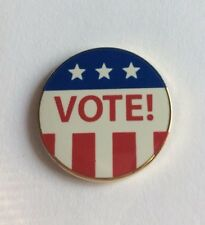 VOTE Lapel Pin Political Election Campaign American Flag Freedom Liberty