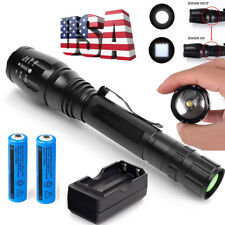 90000LM T6 LED Flashlight Rechargeable 5-Zoom Torch Lamp +18650 Battery+Charger