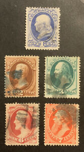 TDStamps: US Stamps Scott#145-149 (5) Used