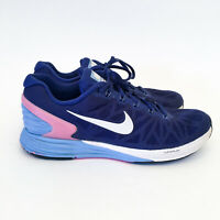NIKE Women's Lunarglide 6 Running Shoes US 9 Sneakers Hyper Blue Pink 654434-416