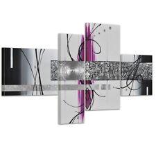 abstrakte Kunst Handgemaltes Leinwandbild 120x70cm 4 teilig 3027